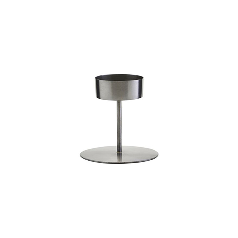 House Doctor Anit Iron Candle Stand H 10