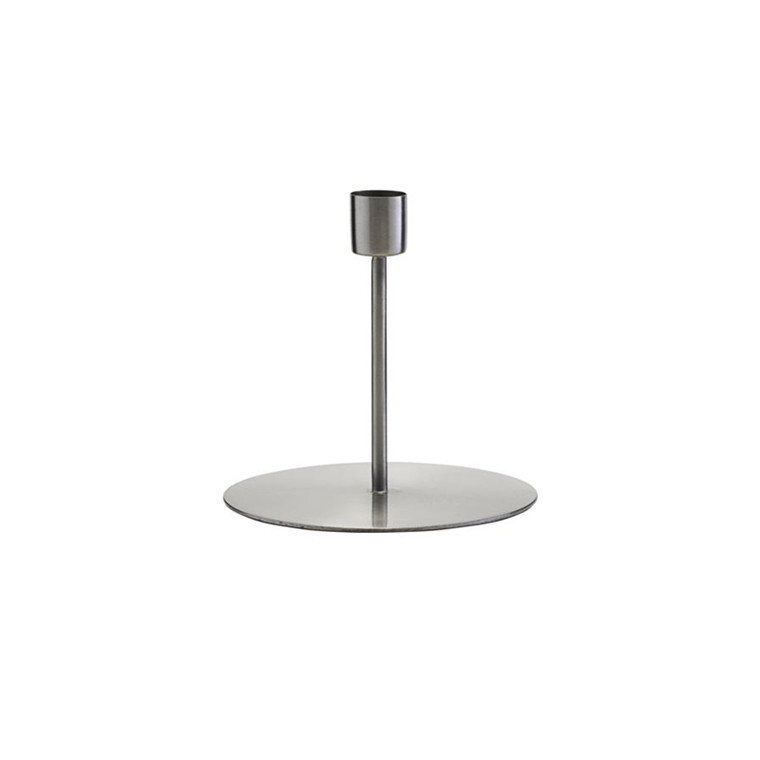 House Doctor Anit Iron Candle Stand H 12