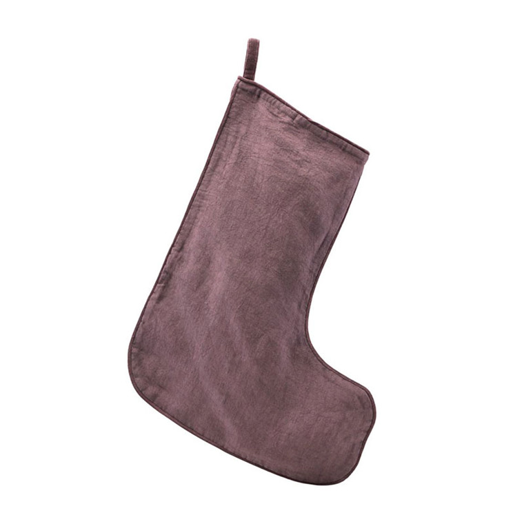 House Doctor Christmas Stocking Aubergine