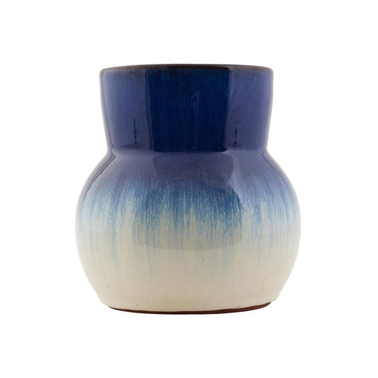House Doctor Flower Vase Blå/Hvid
