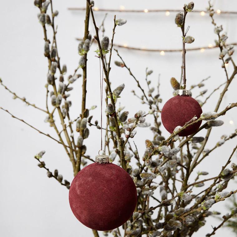 House Doctor Flock Ornament Brændt Henna Ø 5,5 cm