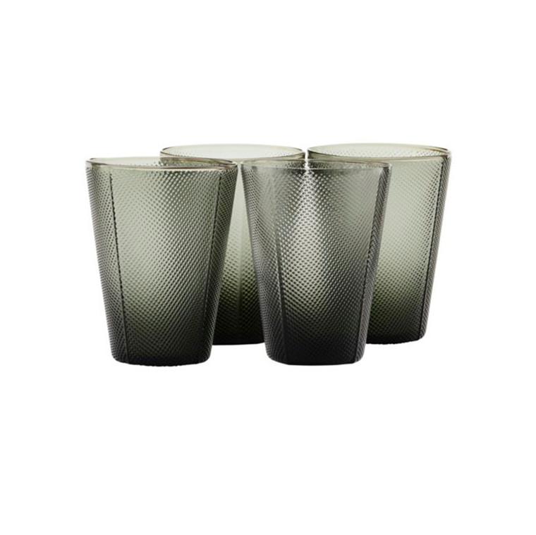 House Doctor Milo Glass Smoked Grey 4 stk