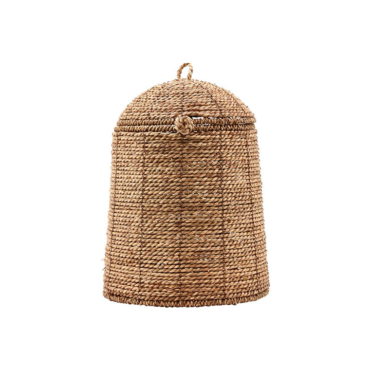 House Doctor Rama Basket With Lid Natural Large