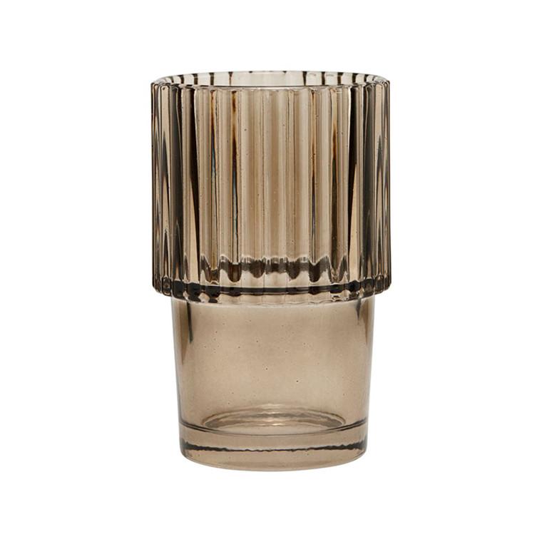 House Doctor Rills Glass Smoked Grey 4 stk