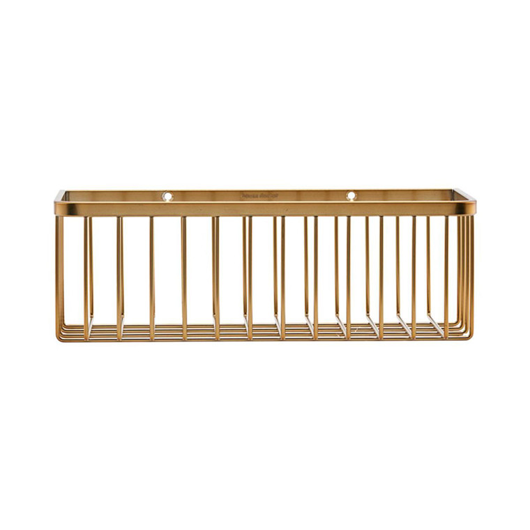 House Doctor Bath Basket Brushed Brass