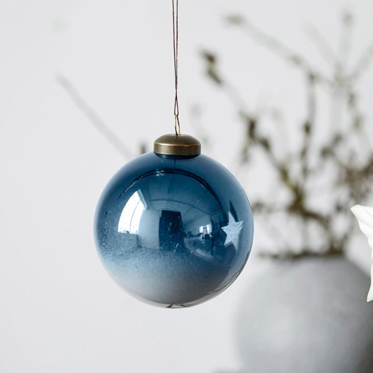 House Doctor Diveded Ornament Blå