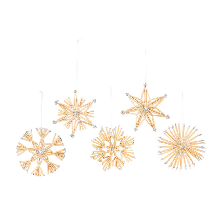 House Doctor Straw Ornaments