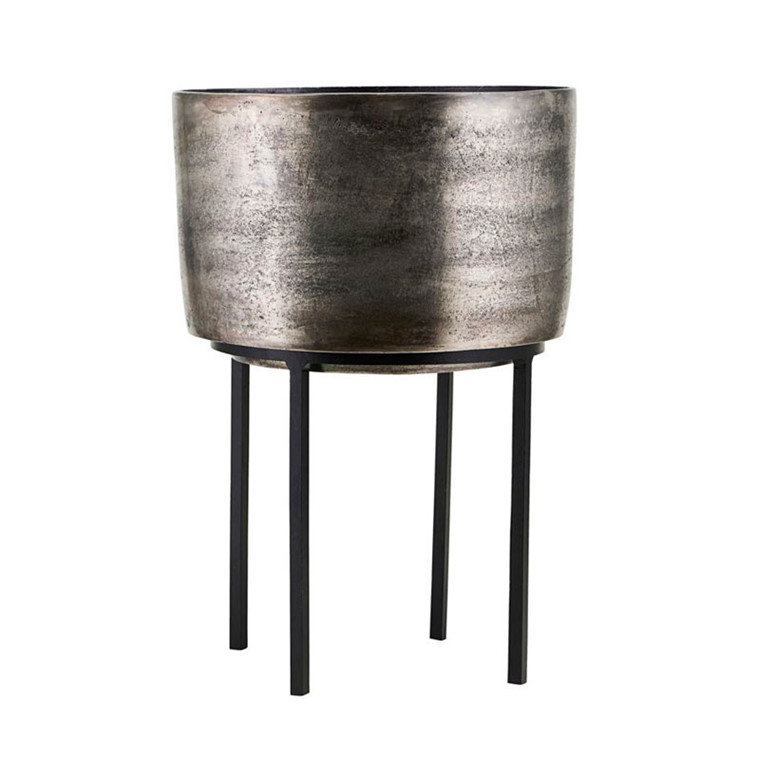 House Doctor Kazi Planter Silver Oxidized H 42 cm