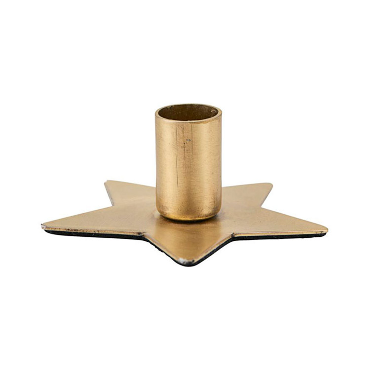 House Doctor Star Candle Stand Brass Finish Ø 6 cm