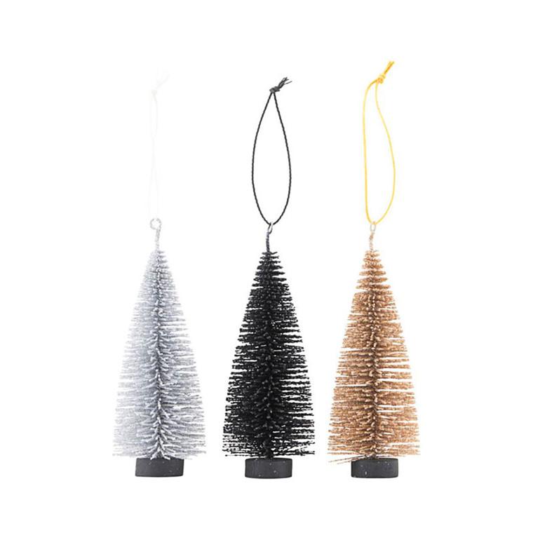 House Doctor X-mas Tree 3-pak sort/guld/sølv