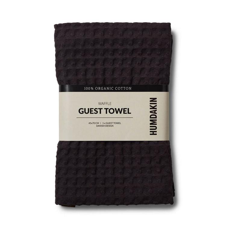 Humdakin Waffle Guest Towel Coal