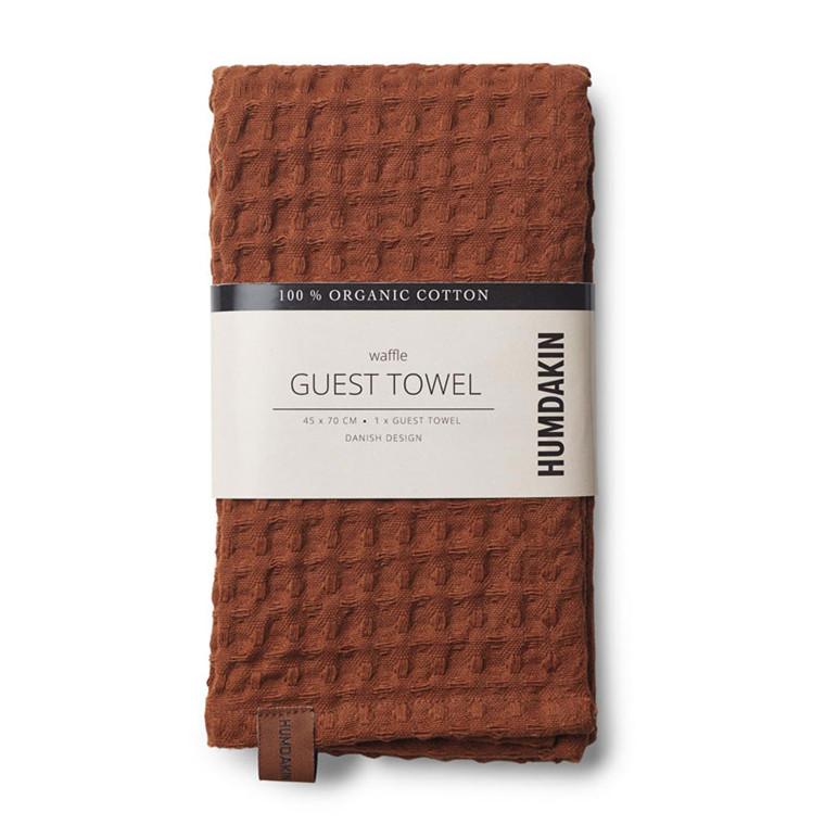 Humdakin Waffle Guest Towel Dark Brown