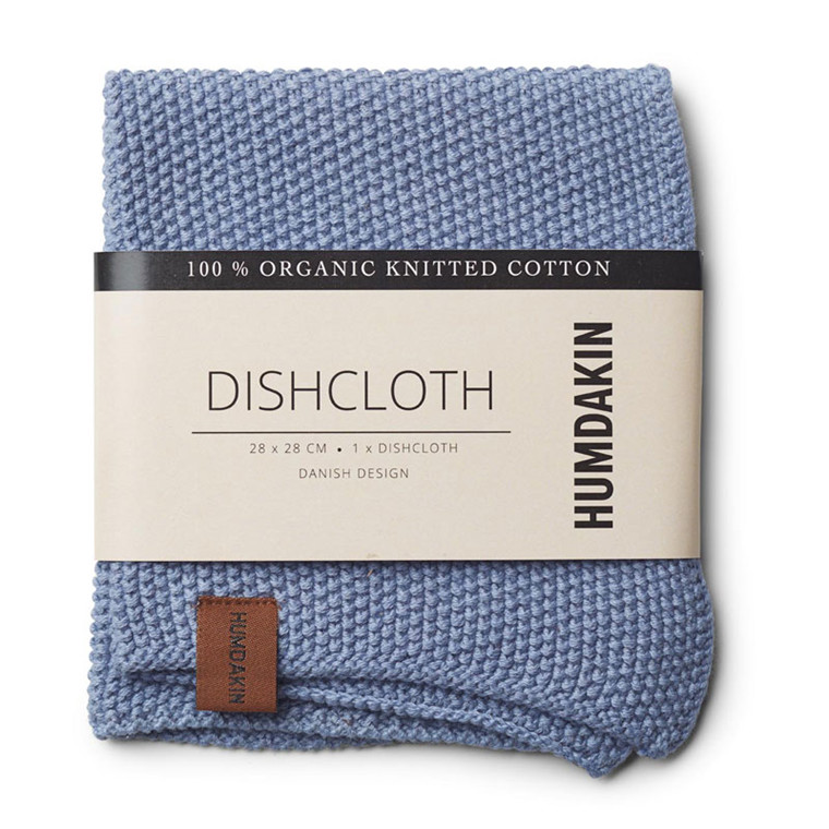 Humdakin Knitted Dishcloth Light Blue