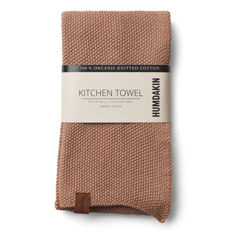 Humdakin Knitted Kitchen Tea Towel Latte