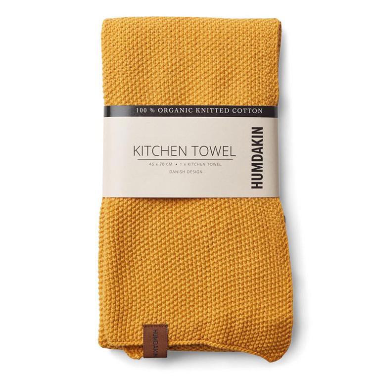 Humdakin Knitted Kitchen Tea Towel Yellow Fall