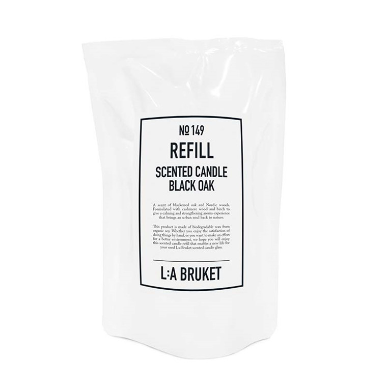 L:A Bruket Refill Scented Candle Black Oak