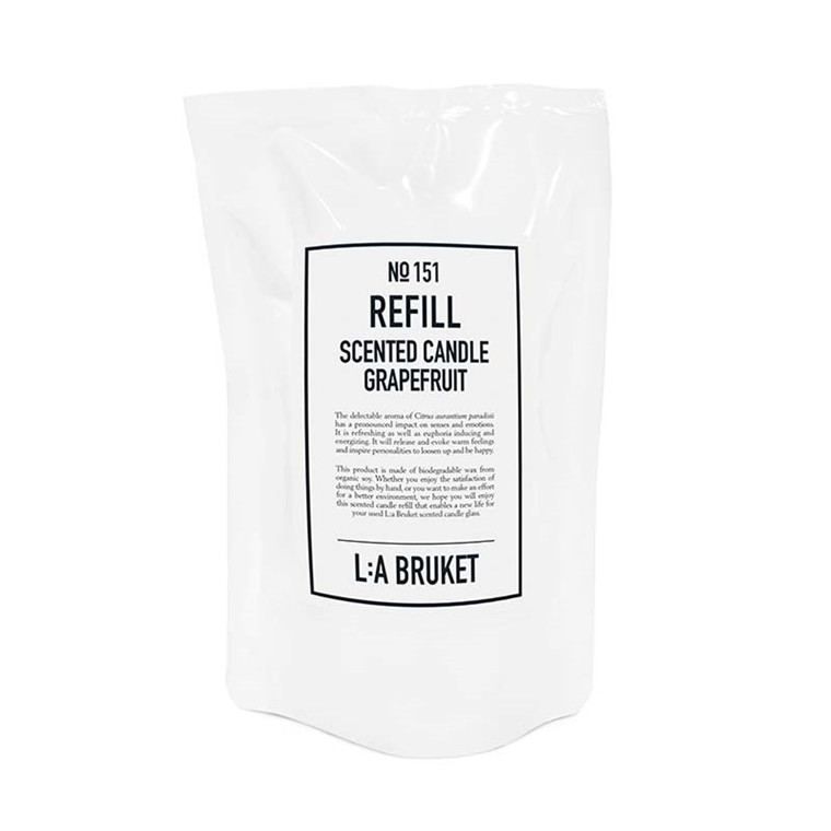 L:A Bruket Refill Scented Candle Grapefruit
