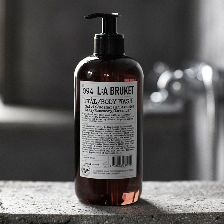 L:A Bruket Liquid Soap Salvie, Rosmarin & Lavendel