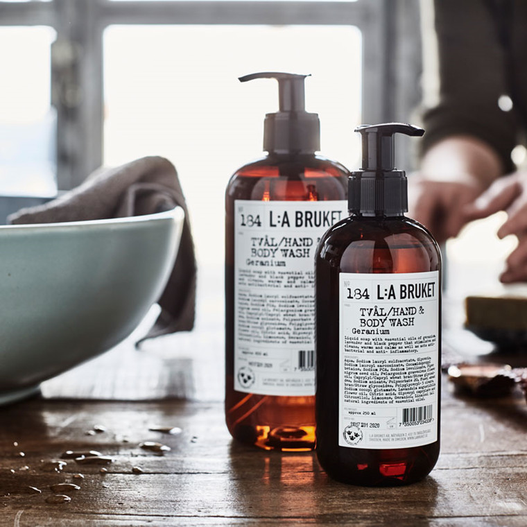 L:A Bruket Liquid Soap Geranium 450 Ml