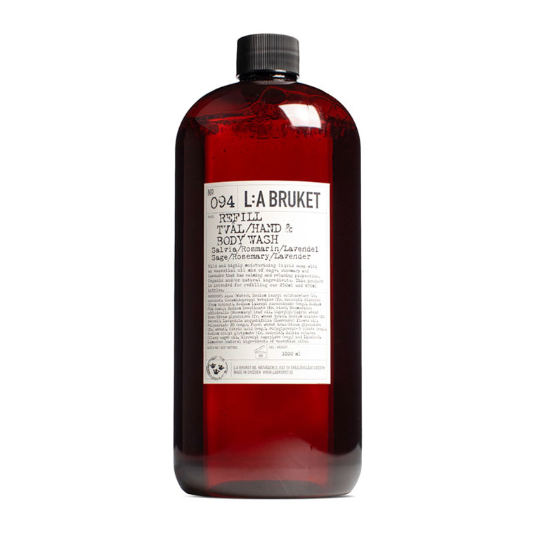 L:A Bruket Hand & Body Wash Sage Rosemary Lavender Refill