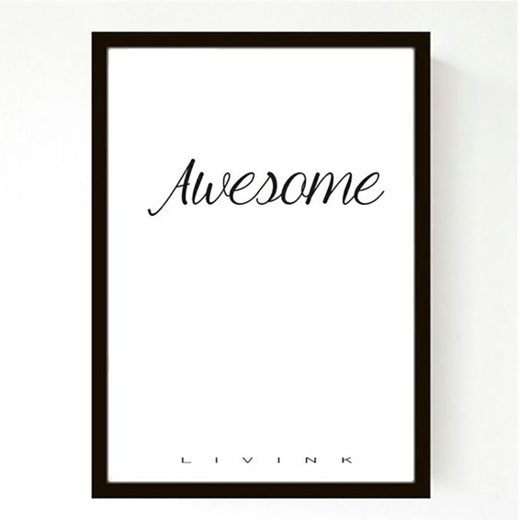 Livink Plakat Be Awesome