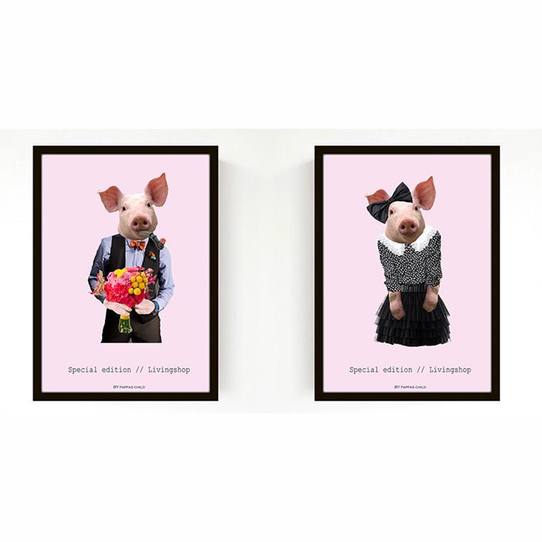 Livink Pig Lady & Pig Man 2-pak