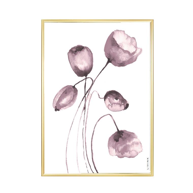 Livink Wild Flower Rose Plakat