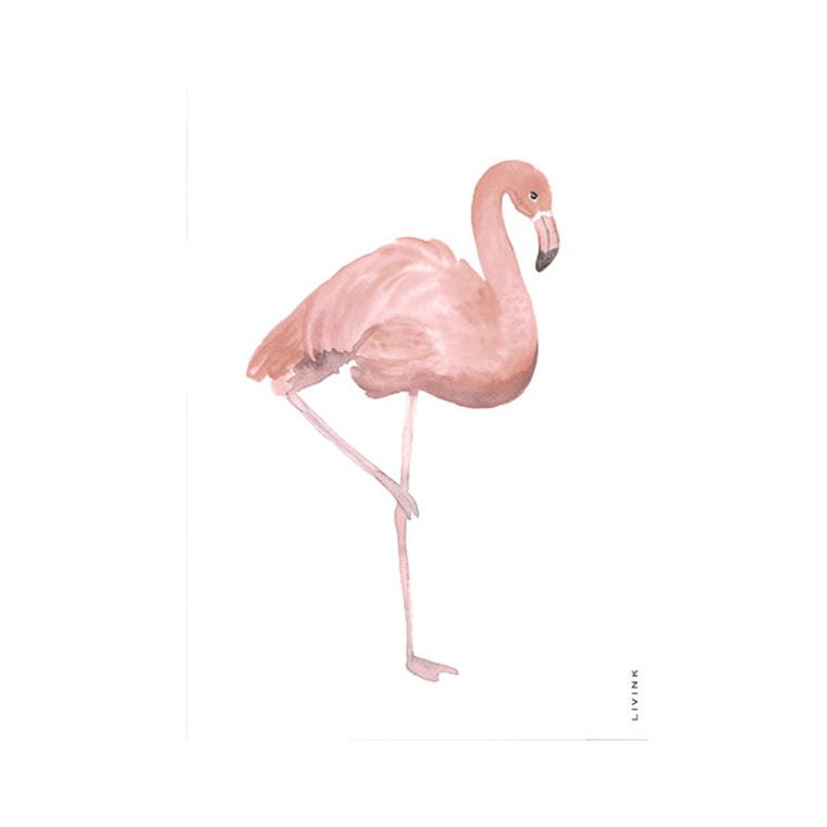 Livink Flamingo Postkort