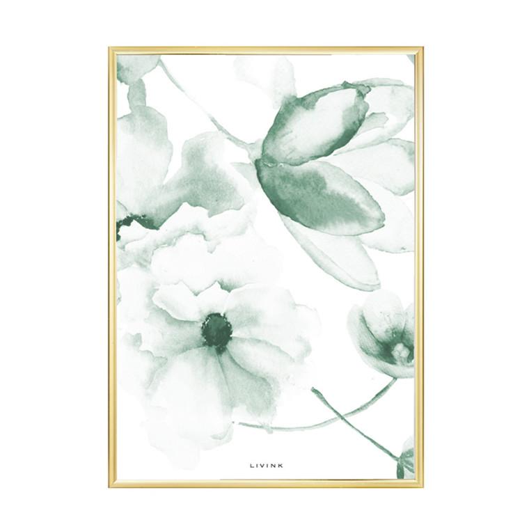 Livink Flowermix Green Plakat