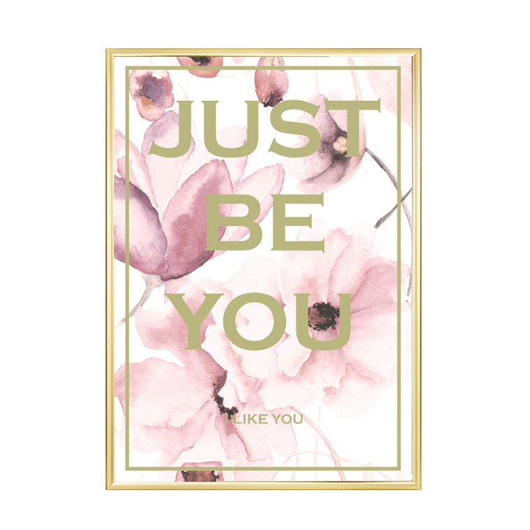Livink Just Be You Flower Rose Plakat