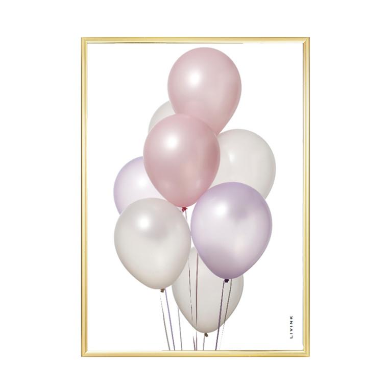 Livink Pastel Balloons Plakat