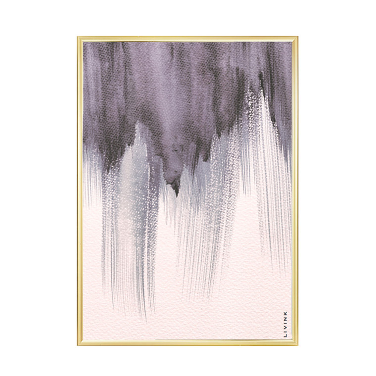 Livink Purple Strokes Plakat