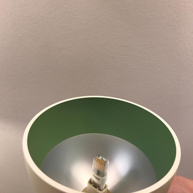 Louis Poulsen Toldbod 120 White/Green Udstillingsmodel