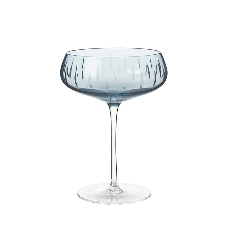 Louise Roe Crystal Champagne Coupe Blue