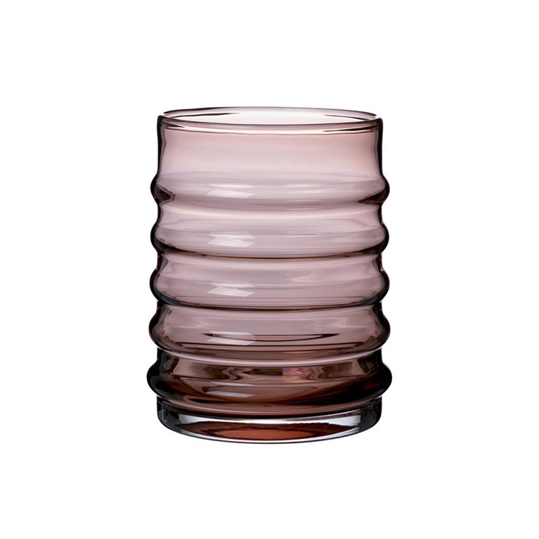 Louise Roe Wilma Glass Vase Burgundy