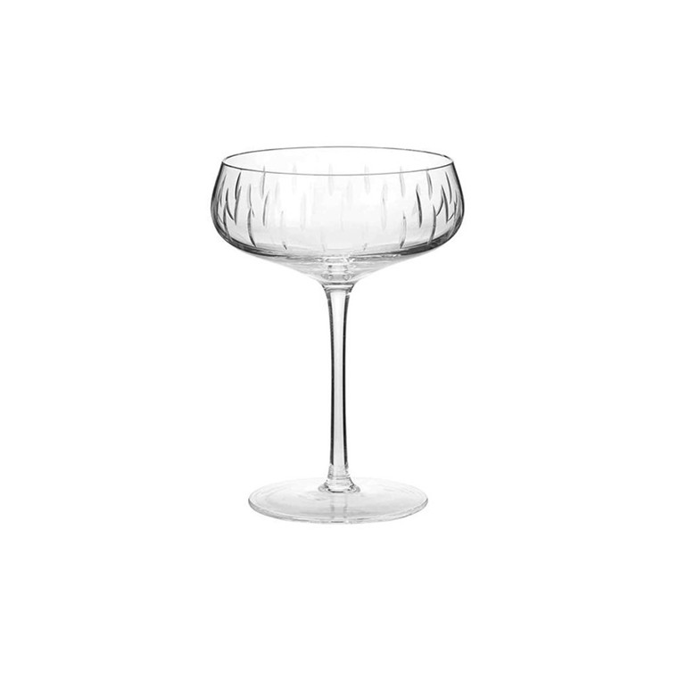 Louise Roe Crystal Champagne Coupe Clear