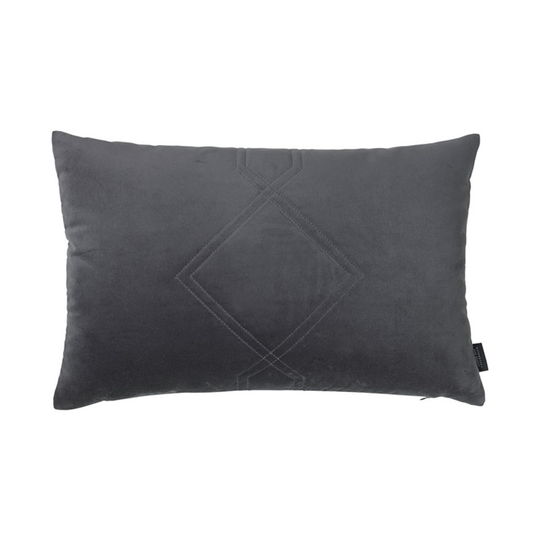 Louise Roe Diamond Quiltet Cushion Grey