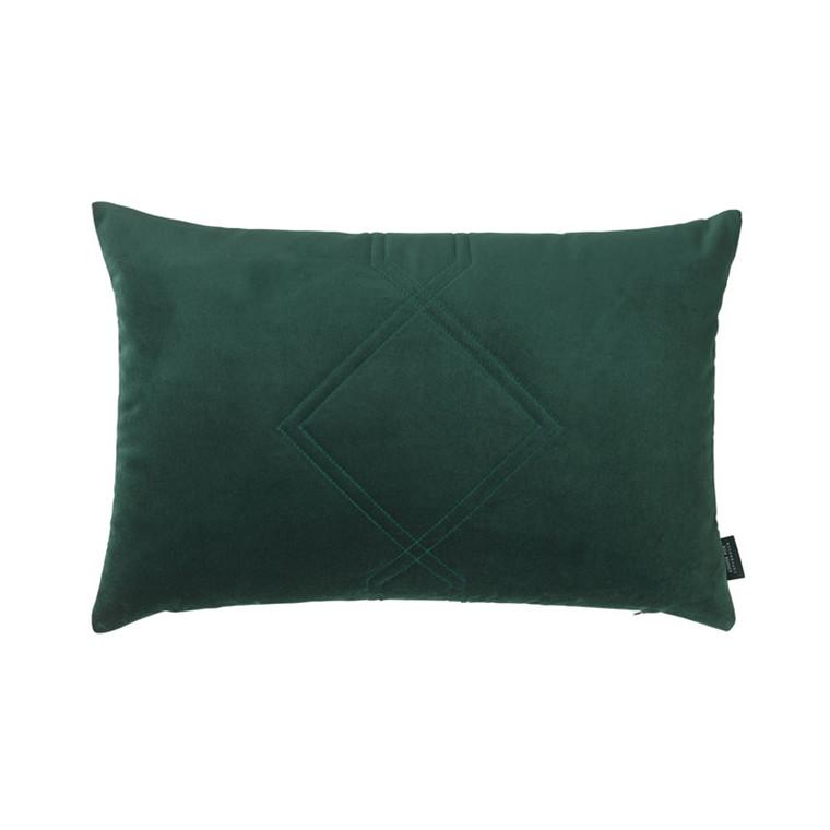 Louise Roe Diamond Quiltet Cushion Green