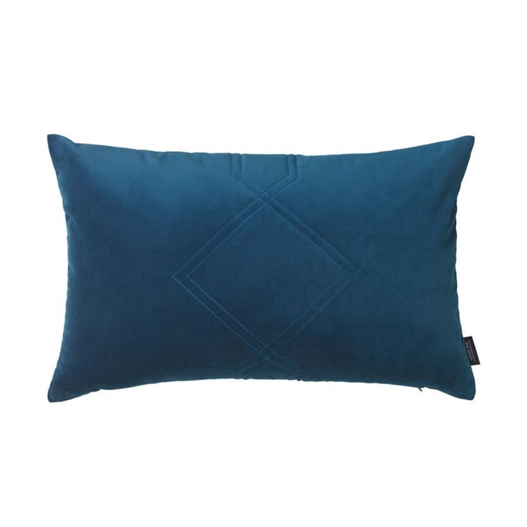 Louise Roe Diamond Quiltet Cushion Blue