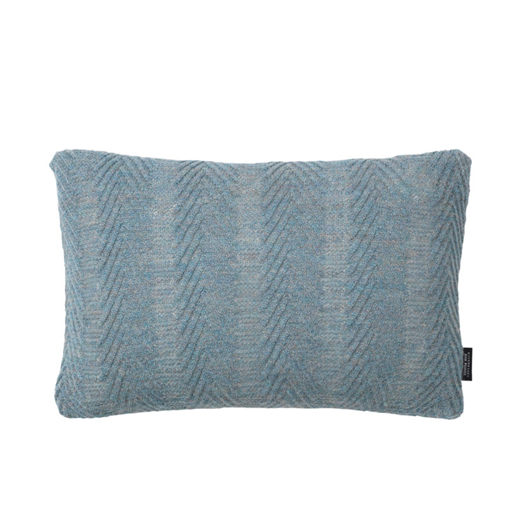 Louise Roe Herringbone Cushion Antique Blue