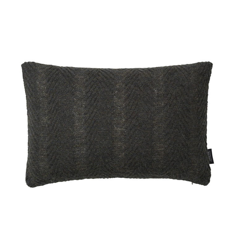 Louise Roe Herringbone Cushion Army Green