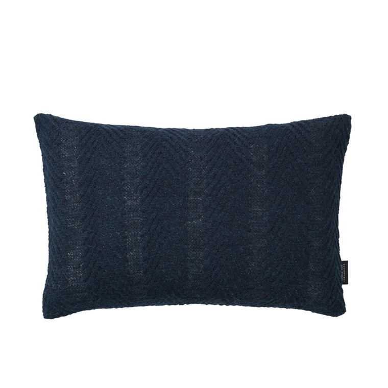 Louise Roe Herringbone Cushion Dark Blue