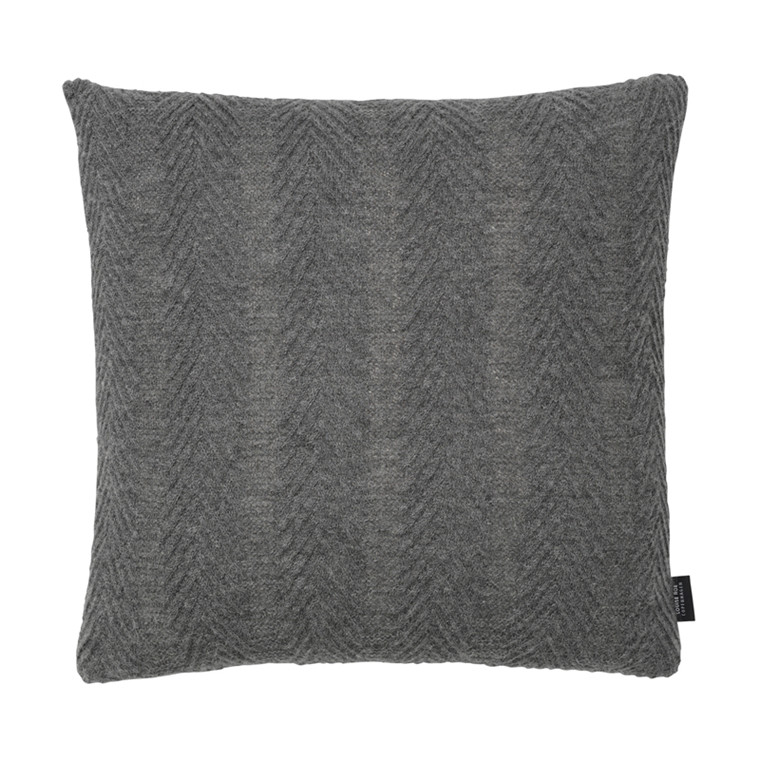 Louise Roe Herringbone Cushion Grey