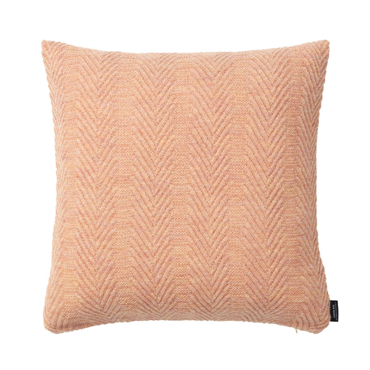 Louise Roe Herringbone Cushion Pearl Rose