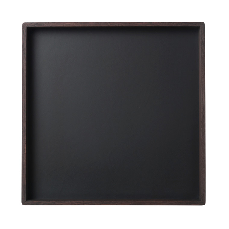 Louise Roe Smoked Oak Black Linoleum Tray Stor