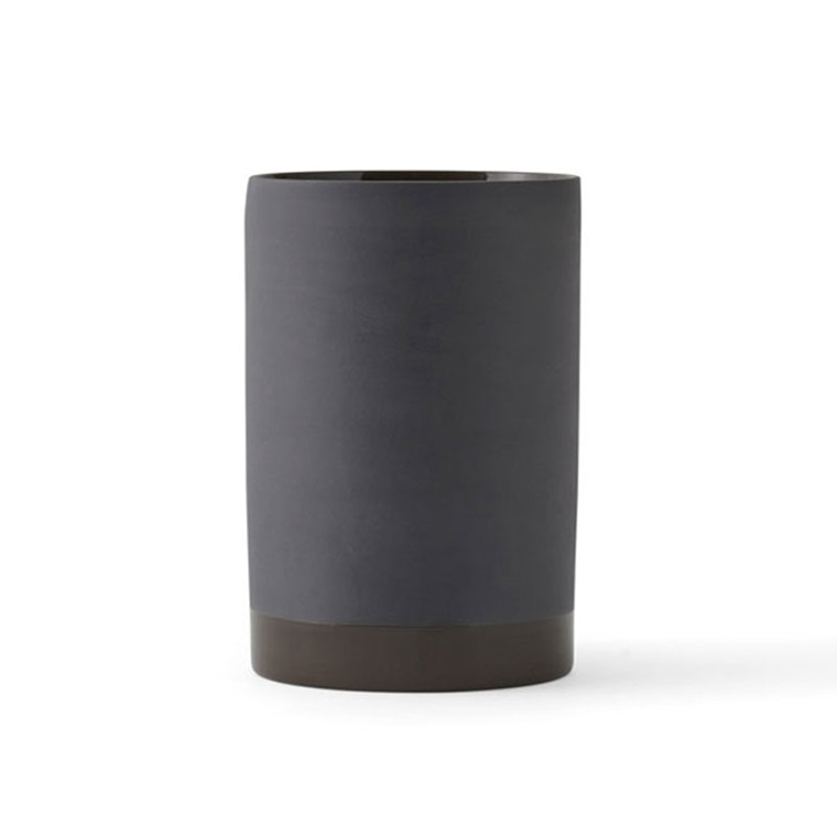 Menu Cylindrical Vase Carbon Small