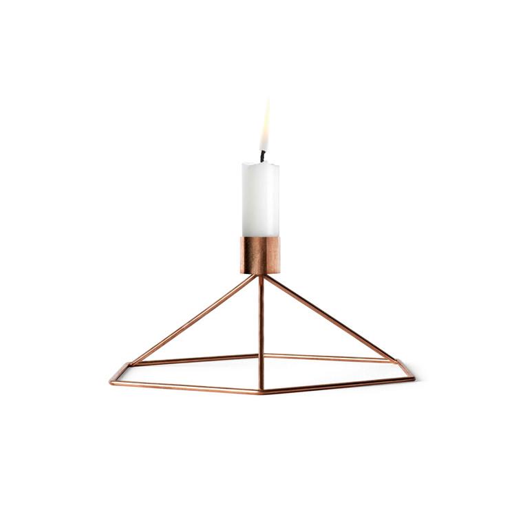 Menu POV Candleholder Table Copper