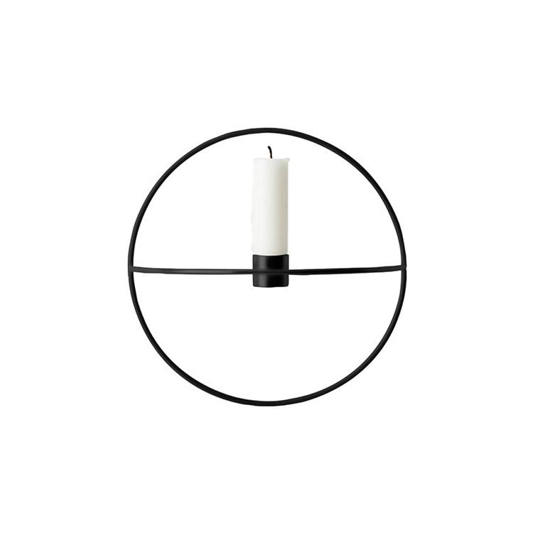 Menu POV Circle Candleholder Black