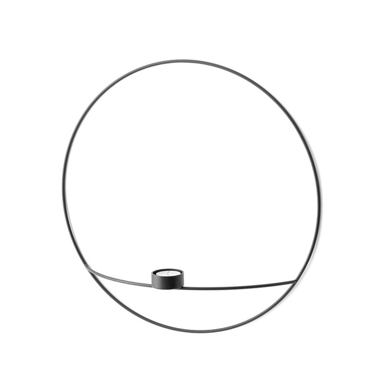 Menu POV Circle Tealight Candleholder Black