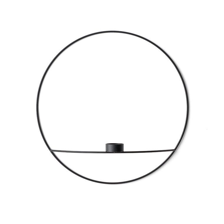 Menu POV Circle Tealight Candleholder Black